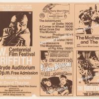 D.W. Griffith Centennial Film Festival