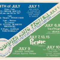 Summer Arts Festival July 1-15