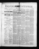 Radford Enterprise (Radford, VA), Vol. 1, No. 10, Saturday, July 19, 1890