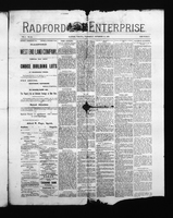 Radford Enterprise (Radford, VA), Vol. 1, No. 25, Wednesday, September 10, 1890