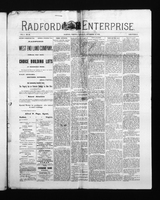 Radford Enterprise (Radford, VA), Vol. 1, No. 26, Saturday, September 13, 1890