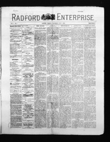 Radford Enterprise (Radford, VA), Vol. 3, No. 5, Wednesday, July 1, 1891