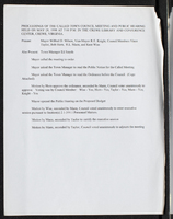 Proceedings of the called town council meeting and public hearing held on May 28, 1998
