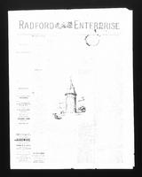 Radford Enterprise (Radford, VA), Vol. 1, No. 4, Saturday, June 21, 1890