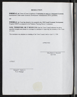Resolution adopted Apr 13, 1998