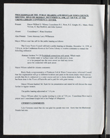 Proceedings of the public hearing and regular town council meeting held on Monday, December 14, 1998