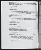 Proceedings of the public hearing and regular town council meeting held on Monday, February 8, 1999