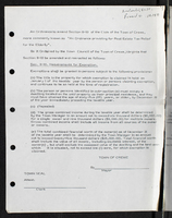 """An ordinance to amend Section 8-10 of the Code of the Town of Crewe, more commonly known as """"An Ordinance providing for Real Estate Tax Relief for the Elderly"""""""